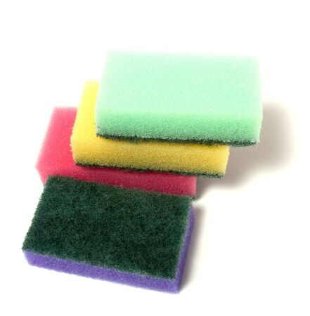 sponges group isolated on the white background photo
