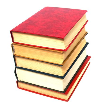 books stack isolated on white Stock Photo - 5737649