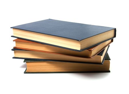 books stack isolated on white Stock Photo - 5774145