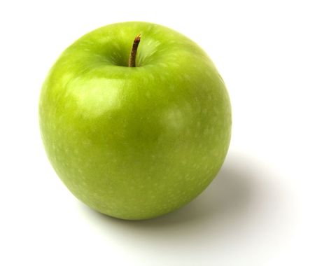 manzana verde: manzana verde aislado sobre fondo blanco