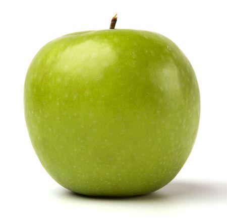 manzana verde: manzana verde aisladas sobre fondo blanco
