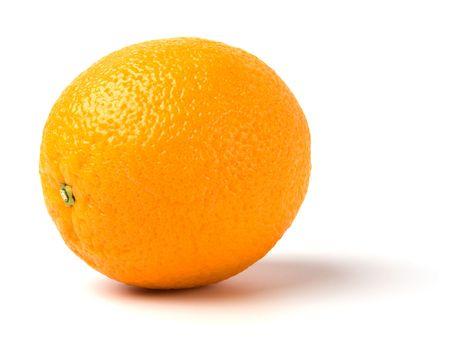 quenching: orange isolated on white background Stock Photo