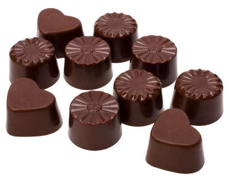 chocolate pralines isolated on white background Stock Photo - 5973551