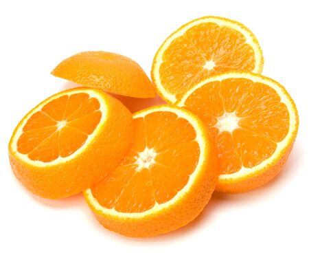 orange slices isolated on white background Stock Photo - 5973591