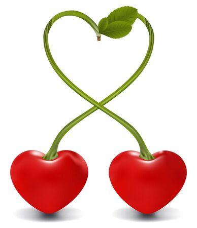 raster. cherry heart Stock Photo - 5982575