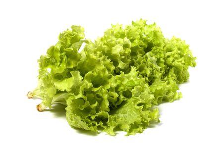 Lettuce salad isolated on white background Stock Photo