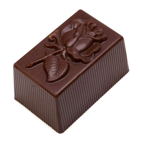 chocolate praline isolated on white background photo