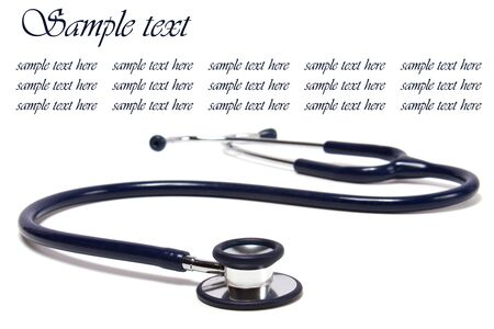 clean lungs: blue stethoscope isolated on white background Stock Photo