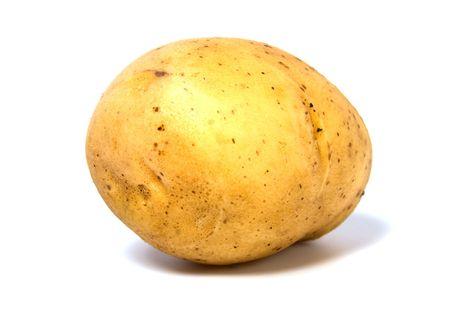 으깬: 흰색 배경에 고립 된 감자