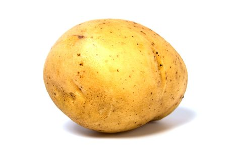pure de papas: patata aislado sobre fondo blanco