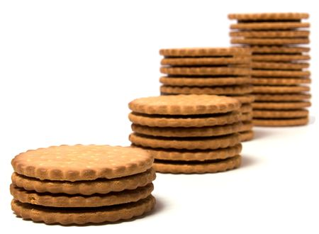 biscuits isolated on white background Stock Photo - 6026278