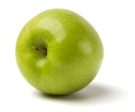 quench: green apple isolated on white background