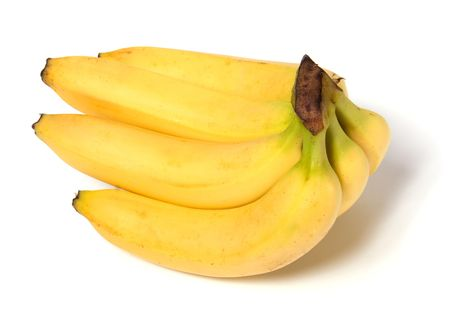 bananas isolated on white background photo