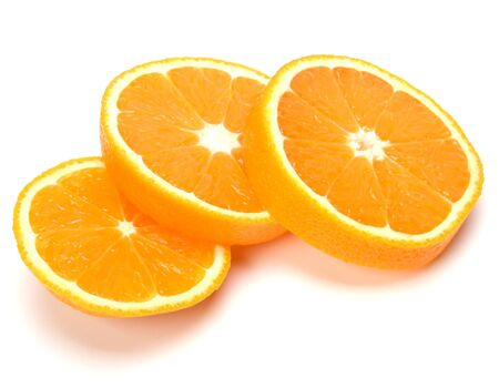 orange slices isolated on white background photo