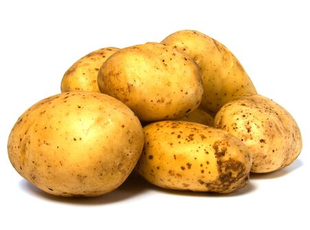 potatoes isolated on white background photo