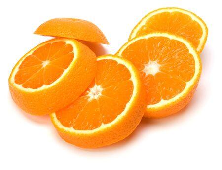 orange slices isolated on white background photo