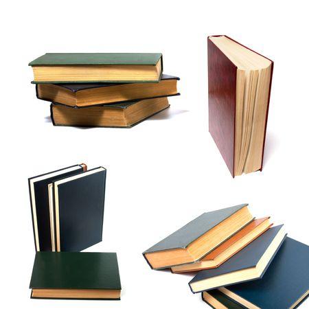 books isolated on white photo