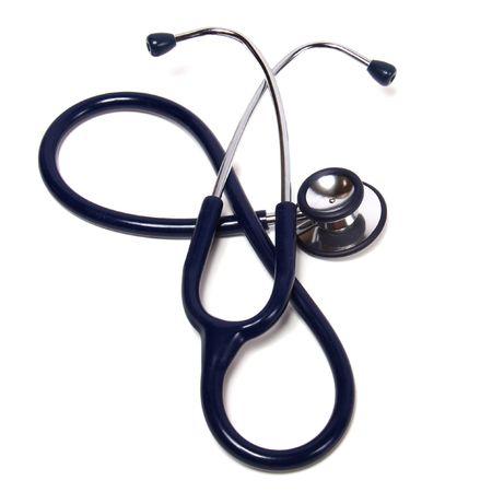 blue stethoscope isolated on white background photo