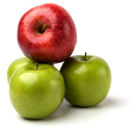 pith: apples isolated on white background Stock Photo