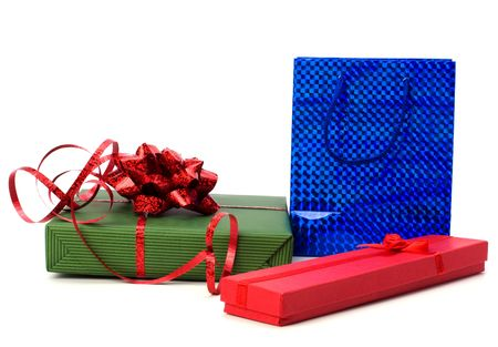 gifts isolated on white background photo