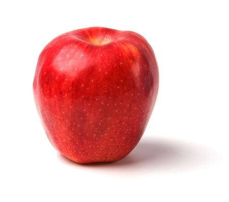 red apple isolated on white background Stock Photo - 6239888