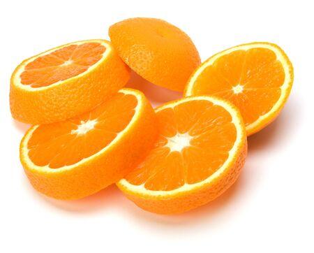 orange slices isolated on white background Stock Photo - 6239886
