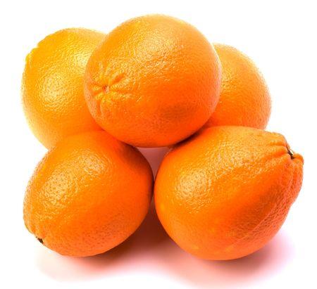 orange isolated on white background Stock Photo - 6258732