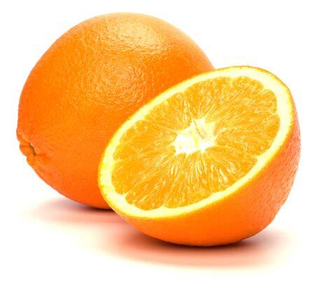 orange colour: orange isolated on white background Stock Photo