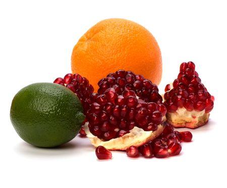 tropical fruits isolated on white background Stock Photo - 6258726