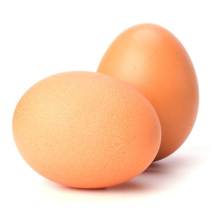 eggs isolated on white background photo
