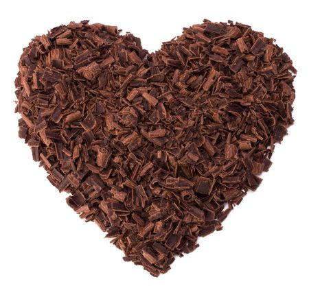 chocolate heart isolated on white Stock Photo - 6258744
