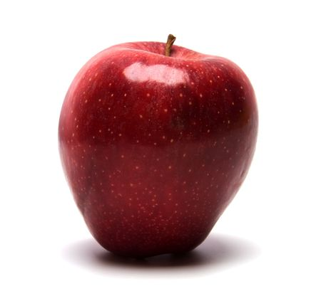 m�dula: Manzana Roja aislado sobre fondo blanco