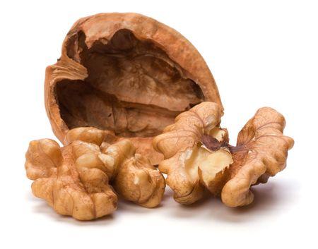 Circassian walnut isolated on white background Stock Photo - 6341538