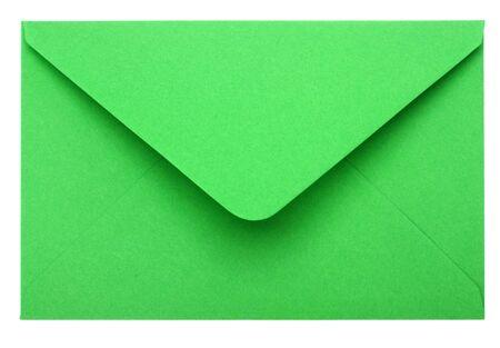 green envelope isolated on white background photo