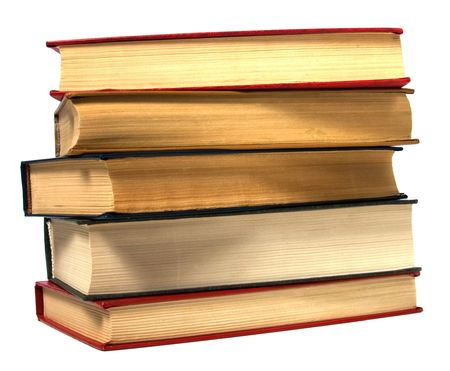 book stack isolated on the white Stock Photo - 6341526