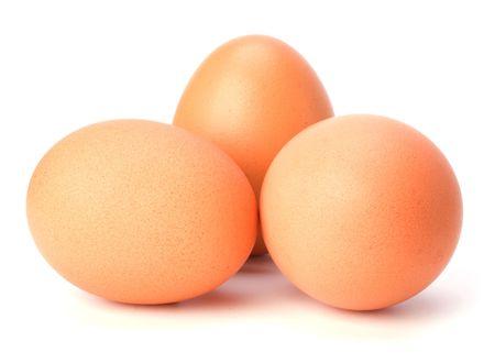 eggs isolated on white background Stock Photo - 6341537