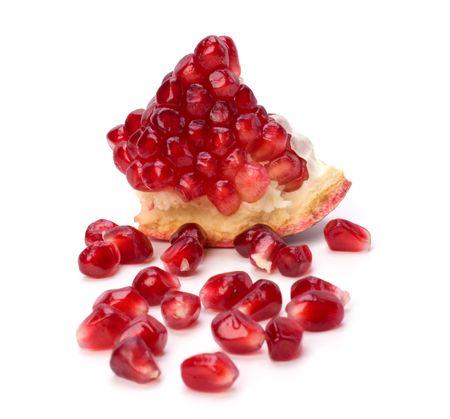 pomegranate isolated on white background Stock Photo