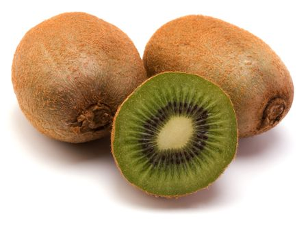 kiwi fruit isolated on white background Stock Photo - 6341653
