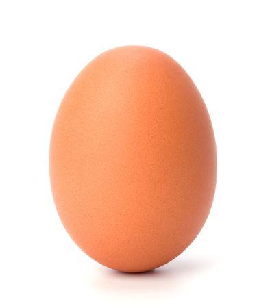egg isolated on white photo