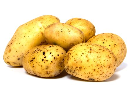 potatoes isolated on white background Stock Photo - 6491738