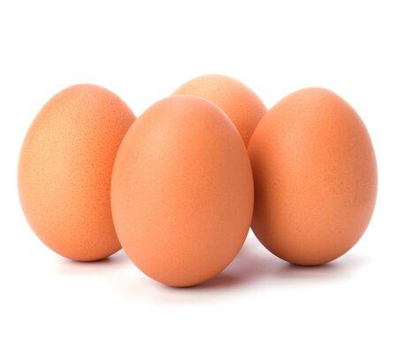 albumen: eggs isolated on white background