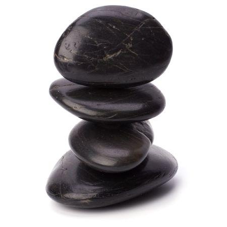 zen stones isolated on white background photo