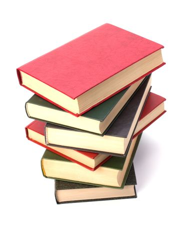 book stack isolated on white background Stock Photo - 6491686