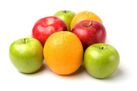 fruits isolated on white background photo