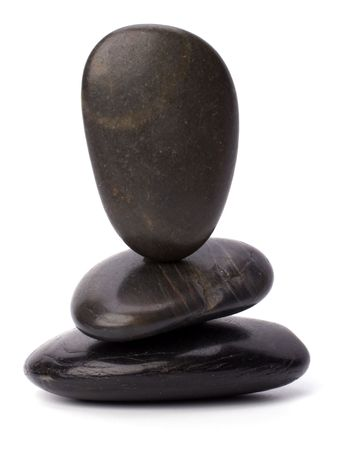 zen stones isolated on white background photo