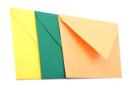 sealable: envelopes isolated on white background