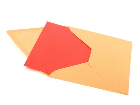 envelope with card isolated on white background Stock Photo - 6572954