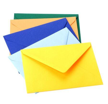 envelopes isolated on white background