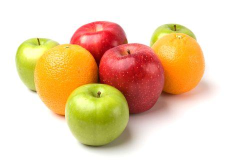fruits isolated on white background Stock Photo - 6573015