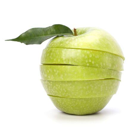 manzanas en rodajas, aisladas sobre fondo blanco Foto de archivo - 6747658
